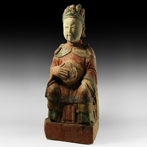 Chinese Ming Seated Temple Statue