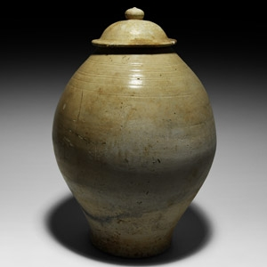 Chinese Tang Semi-Glazed White Jar
