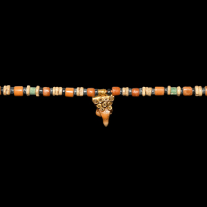 Gold and Coral Necklace with Phallus