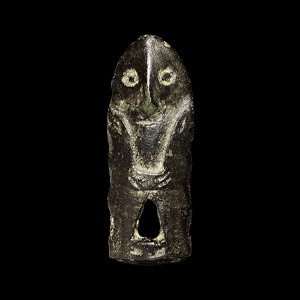 Viking Figural Mount with Helmetted Head