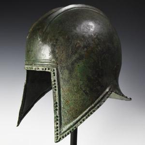 Greek Archaic Macedonian or Illyrian Bronze Helmet