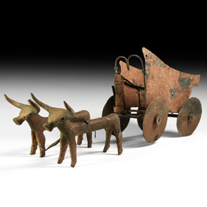 Western Asiatic Levantine Cart with Oxen