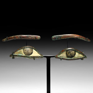 Bronze and Glass Mummy Eyes