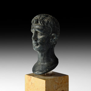 Glass Bust of Augustus
