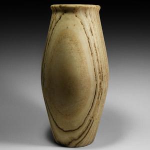 Striated Alabaster Vase