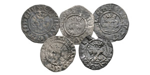 English Medieval Coins - Edward I and later - Long Cross Halfpennies [5]