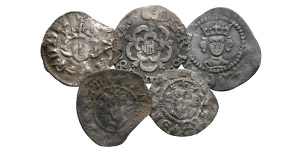 English Medieval Coins - Edward I and later - Long Cross Farthings [5]