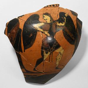 Greek Goddess Eos Vase Fragment