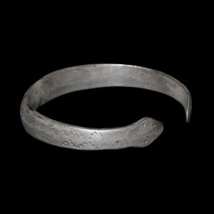 Roman Silver Armilla Snake-Heads Bracelet