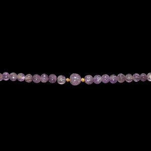 Hellenistic Amethyst Melon Bead Necklace