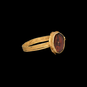 Merovingian Gold Ring with Garnet