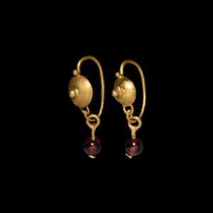 Roman Gold and Garnet Earrings