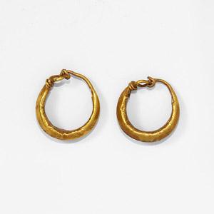 Gold Hoop Earring Pair
