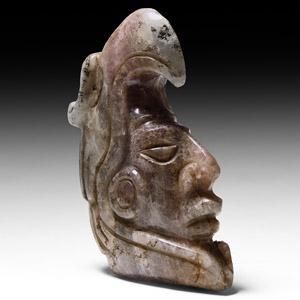 Mayan Amethyst Head with Condor Cowl