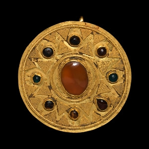 Jewelled Gold Brooch