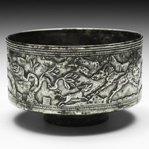 Elymaean Hellenistic Silver Bowl with Animals