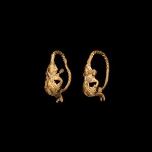 Gold Eros Earring Pair