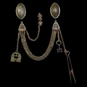 Tortoise Brooch Necklace Set
