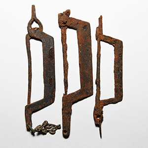 Iron Pincer Brooch Group