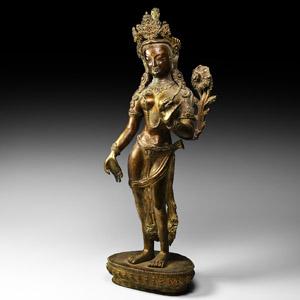 Gilt Arya Tara Figure
