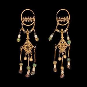 Gold Chandelier Earring Pair