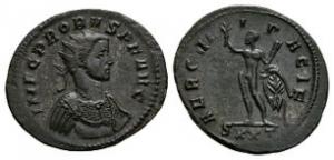 Ancient Roman Imperial Coins - Probus - Hercules AE Antoninianus