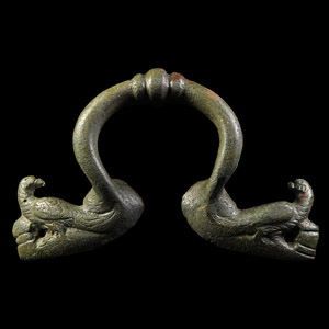 Vessel Handle with Eagles