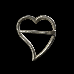 Silver Luckenbooth Heart Brooch