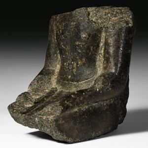 Black Granite Statue Fragment