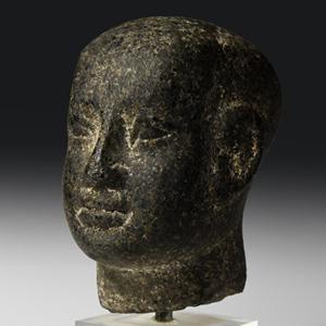Egyptian Granite Head of a Priest