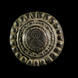 Byzantine Brooch with Virgin Mary and Child