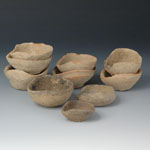 Bronze Age - Swat River Valley - Ten Clay Oil Lamps