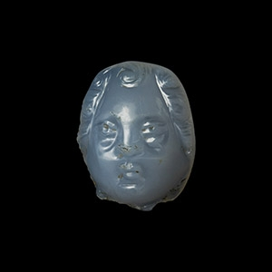 Chalcedony Facing Bust Phalera