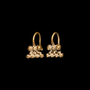 Etruscan Gold Earring Pair