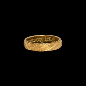 Medieval Gold The Gift of Loyal Love Posy Ring