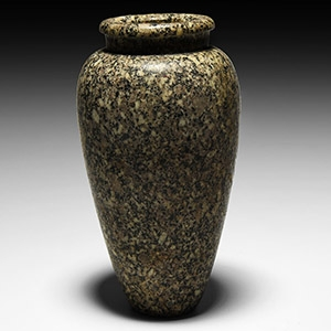 Egyptian Speckled Granite Vase