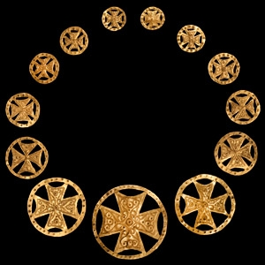 Gold Expanding Cross Ornament Set