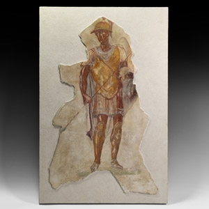 Roman Fresco of a Roman Military Commander