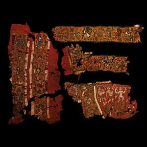 Textile Fragment Group with Roman Soldiers