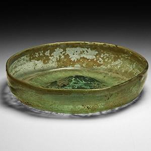 Pale Green Glass Dish