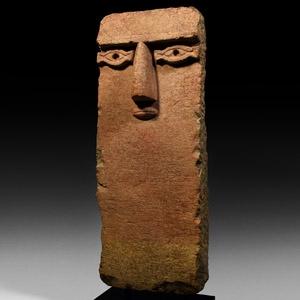 Large South Arabian Face Stela