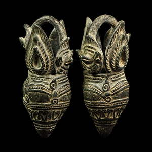 Temple Statue Earring Pair