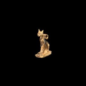 Gold Cat Amulet