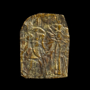 Gold Repoussé Panel with Thoth