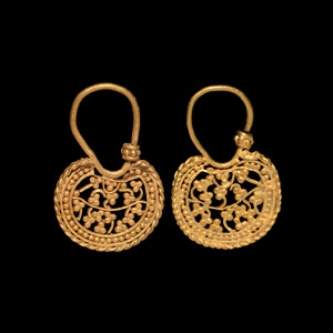 Gold Fretwork Earrings