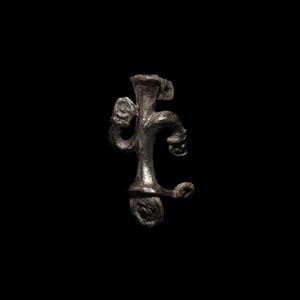 Roman Plant Type Silver Brooch
