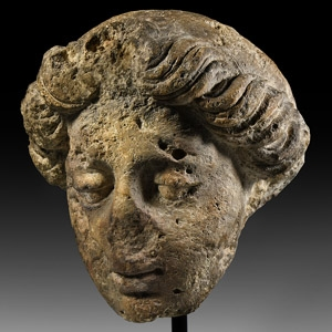 Medieval Head of an Angel