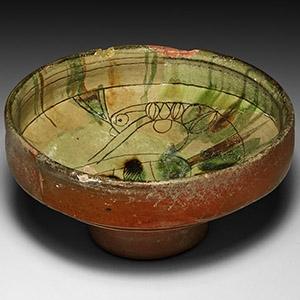 Sgraffito Bowl with Bird