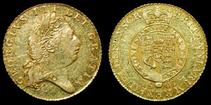 English Milled George III - 1801 - Gold Half Guinea