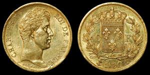 World France - Charles X - 1830 - Gold 40 Frances